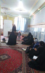 جلسه آموزش علوم قرآنی توسط خانم دستمالچی بزرگوار در تاریخ ۹۸/۸/۶در مسجد جامع